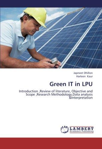 Green IT in LPU: Dhillon, Japneet /