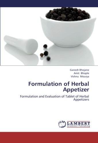9783659288425: Formulation of Herbal Appetizer