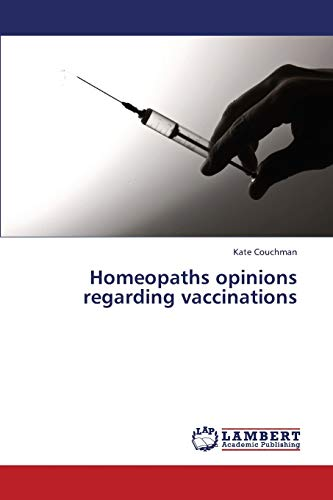 Homeopaths opinions regarding vaccinations: Kate Couchman