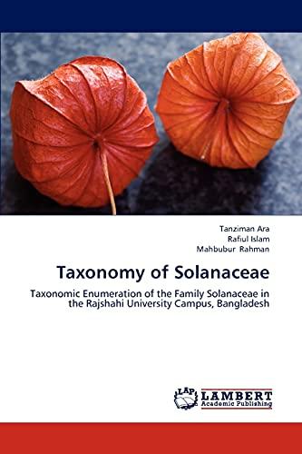 9783659313158: Taxonomy of Solanaceae: Taxonomic Enumeration of the Family Solanaceae in the Rajshahi University Campus, Bangladesh