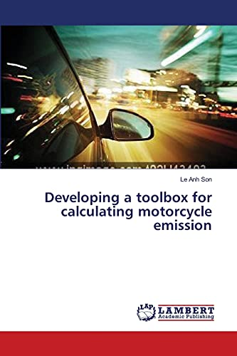 9783659349089: Developing a toolbox for calculating motorcycle emission