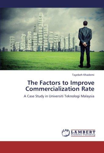 9783659388514: The Factors to Improve Commercialization Rate: A Case Study in Universiti Teknologi Malaysia