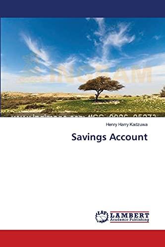 9783659389320: Savings Account