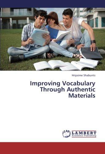 9783659449833: Improving Vocabulary Through Authentic Materials