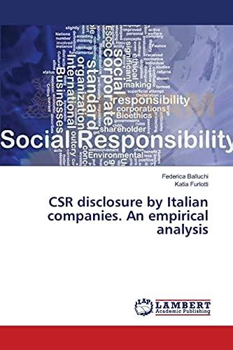 9783659455865: CSR disclosure by Italian companies. An empirical analysis