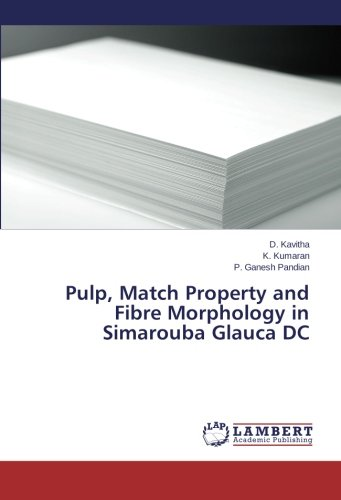 9783659475351: Pulp, Match Property and Fibre Morphology in Simarouba Glauca DC