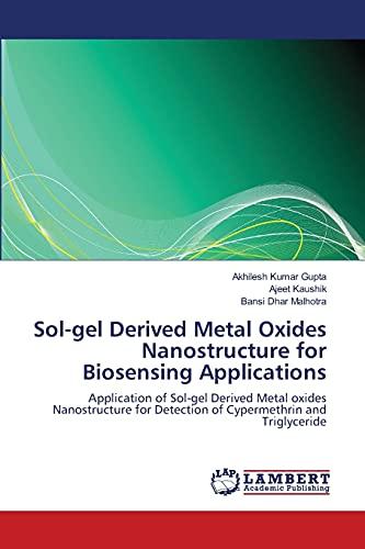 Sol-Gel Derived Metal Oxides Nanostructure for Biosensing Applications: Bansi Dhar Malhotra