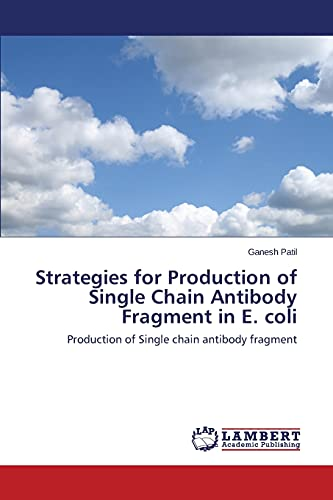 9783659482892: Strategies for Production of Single Chain Antibody Fragment in E. coli: Production of Single chain antibody fragment