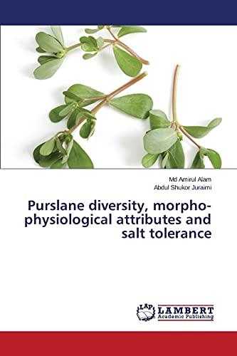 Purslane diversity, morpho-physiological attributes and salt tolerance: Md Amirul Alam