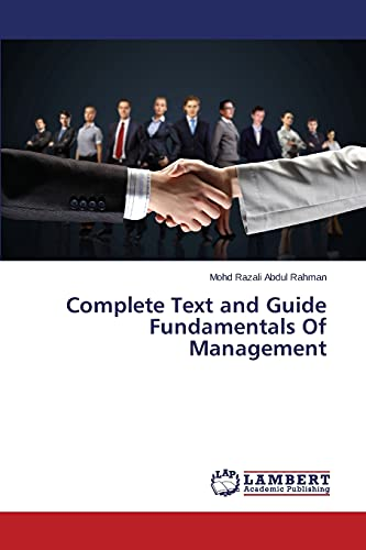 9783659748295: Complete Text and Guide Fundamentals Of Management