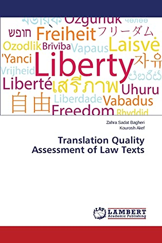 9783659785733: Translation Quality Assessment of Law Texts