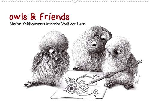 9783660093490: owls & friends (Posterbuch DIN A4 quer): Stefan Kahlhammers tierische Welt (Posterbuch, 14 Seiten)