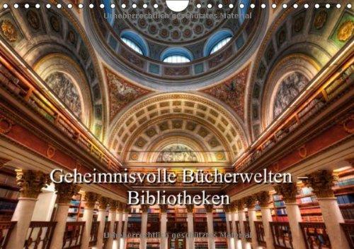 9783660137095: Geheimnisvolle B�cherwelten -Bibliotheken (Wandkalender 2014 DIN A4 quer): B�cher, B�cher, B�cher (Monatskalender, 14 Seiten)