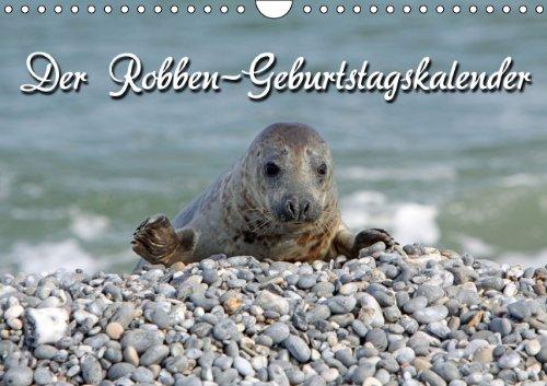 9783660195910: Der Robben-Geburtstagskalender (Wandkalender immerwährend DIN A4 quer): Kegelrobben auf Helgolands Düne (Monatskalender, 14 Seiten)
