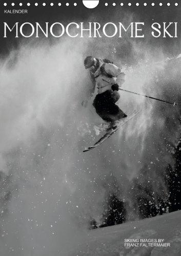9783660202601: Monochrome Ski Wandkalender 2014 Din a
