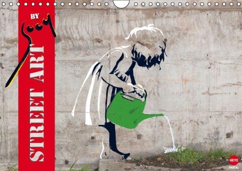 9783660211450: Street Art by sooq (Wandkalender 2014 DIN A4 quer): Überraschendes Garffiti auf 12 Wänden (Monatskalender, 14 Seiten)