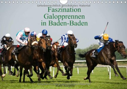 9783660332377: Faszination Galopprennen in Baden-Baden - Author: Siegele Ralf