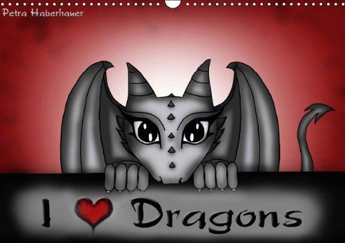 9783660500080: I Love Dragons UK Version Wall Calen