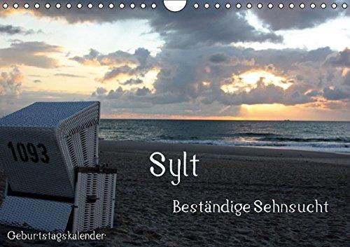 9783660512564: Sylt - Beständige Sehnsucht (Wandkalender immerwährend DIN A4 quer): Wolken, Wellen, Wind und Weite (Geburtstagskalender, 14 Seiten)