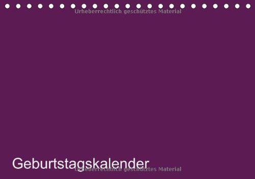 9783660564181: Bastel Geburtstagskalender Lila Gebur