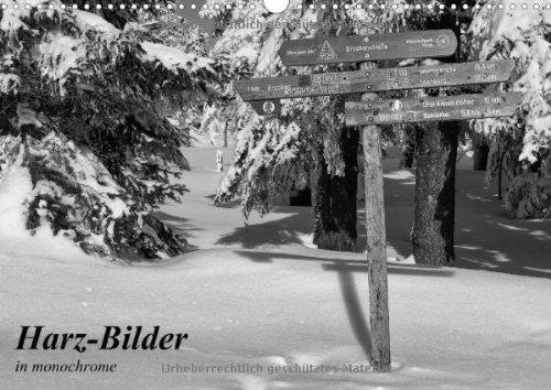 9783660711714: Harz Bilder in Monochrome Wandkalender