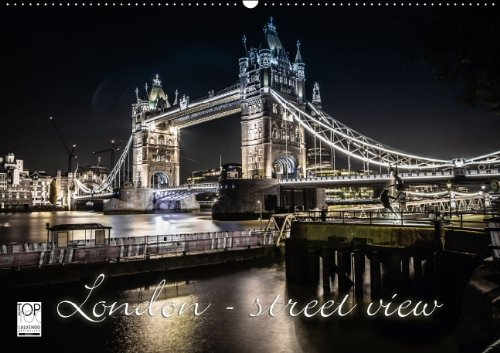 9783660738353: London Street View Wandkalender 2015