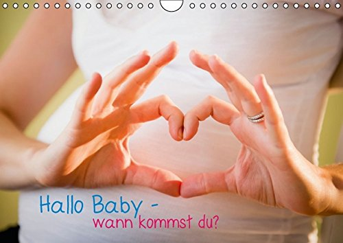 9783660959192: Hallo Baby Wann Kommst Du Wandkal