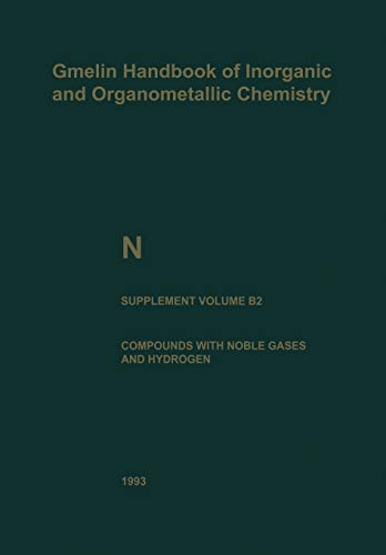 9783662063385: N Nitrogen (Gmelin Handbook of Inorganic and Organometallic Chemistry - 8th edition)