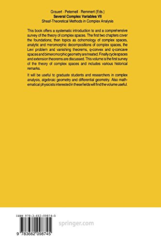 9783662098745: Several Complex Variables VII: Sheaf-Theoretical Methods in Complex Analysis
