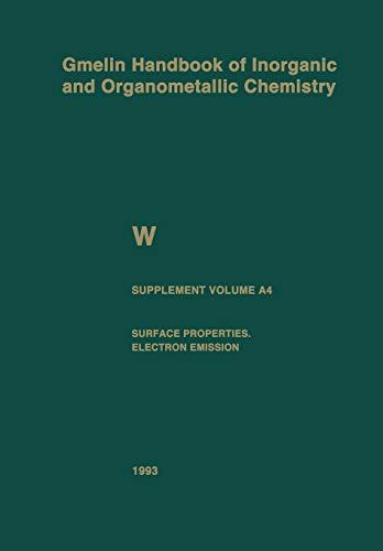 W Tungsten. Supplement Volume A4 Surface Properties. Electron Emission: GERHARD CZACK