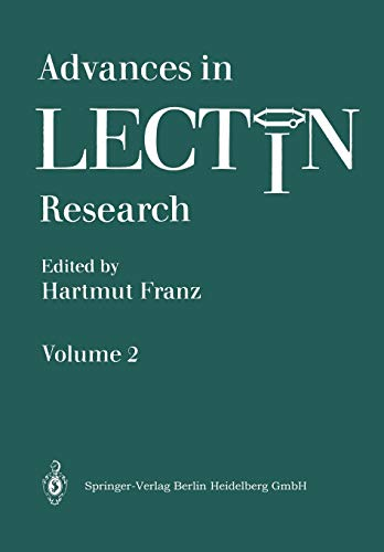 9783662110621: Advances in Lectin Research (Volume 2)