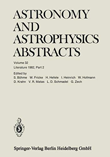 Literature 1982, Part 2 (Astronomy and Astrophysics Abstracts): Siegfried BÃ hme