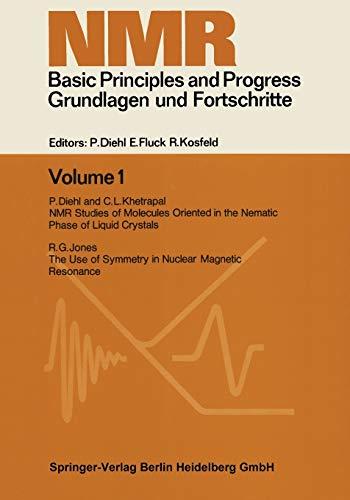 9783662126028: NMR Basic Principles and Progress. Grundlagen und Fortschritte (Volume 1)