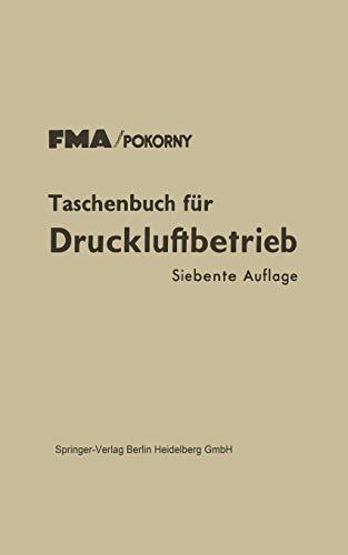 9783662130896: Taschenbuch f�r Druckluftbetrieb