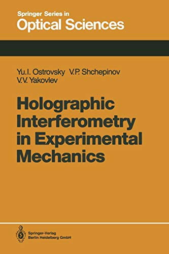 9783662138625: Holographic Interferometry in Experimental Mechanics: 60 (Springer Series in Optical Sciences)