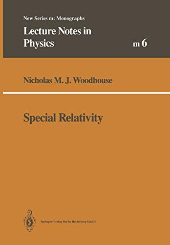9783662139189: Special Relativity (Lecture Notes in Physics Monographs) (German Edition)