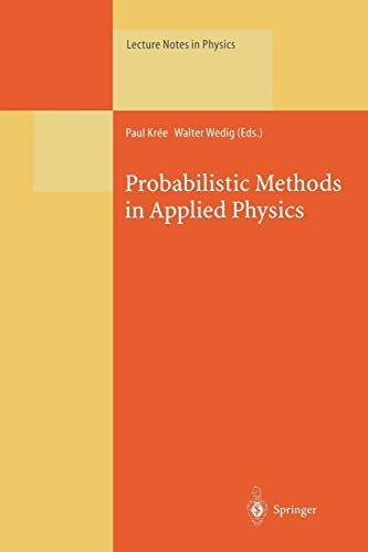 9783662140062: Probabilistic Methods in Applied Physics (Lecture Notes in Physics)