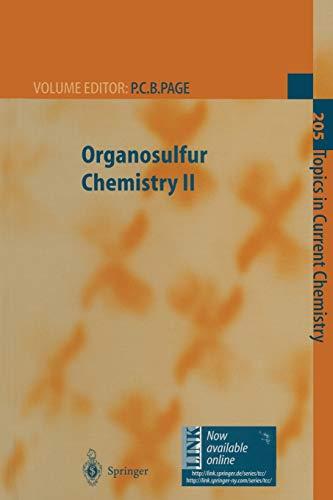 9783662147122: Organosulfur Chemistry II (Topics in Current Chemistry) (Volume 205)