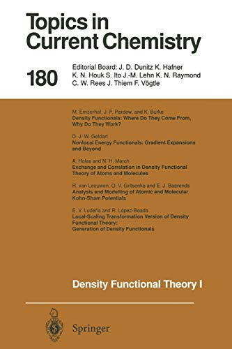 9783662148341: Density Functional Theory I: Functionals and Effective Potentials (Topics in Current Chemistry) (Volume 180)