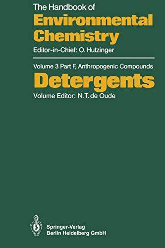 9783662149836: Detergents (The Handbook of Environmental Chemistry)
