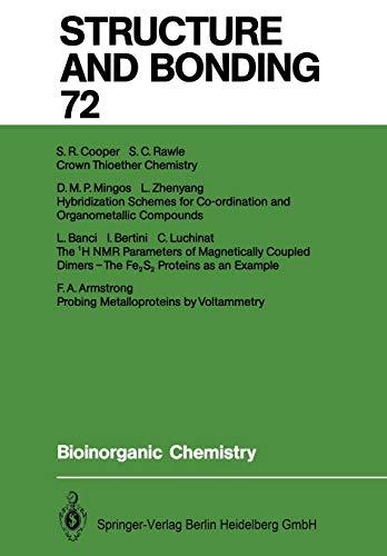9783662150474: Bioinorganic Chemistry (Structure and Bonding)