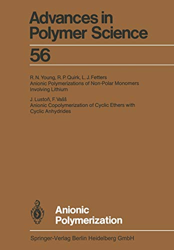 9783662152478: Anionic Polymerization (Advances in Polymer Science)
