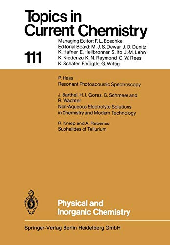 9783662153185: Physical and Inorganic Chemistry: Volume 111 (Topics in Current Chemistry)