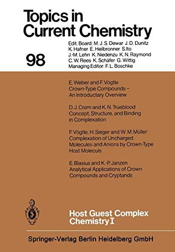 9783662153727: Host Guest Complex Chemistry I (Topics in Current Chemistry) (Volume 98)