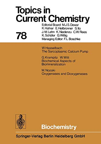 9783662154465: Biochemistry (Topics in Current Chemistry) (Volume 78)