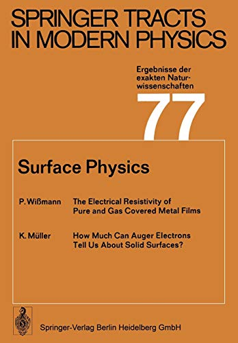 9783662155103: Surface Physics (Springer Tracts in Modern Physics)