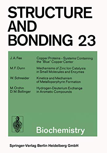 9783662155240: Biochemistry (Structure and Bonding)