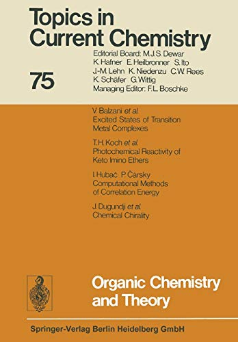 9783662158265: Organic Chemistry and Theory (Topics in Current Chemistry)