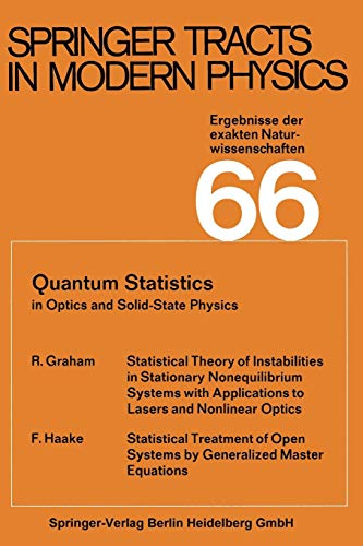9783662158777: Quantum Statistics in Optics and Solid-State Physics (Springer Tracts in Modern Physics)