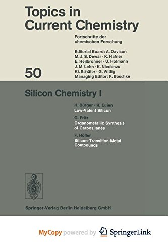 9783662159453: Silicon Chemistry I